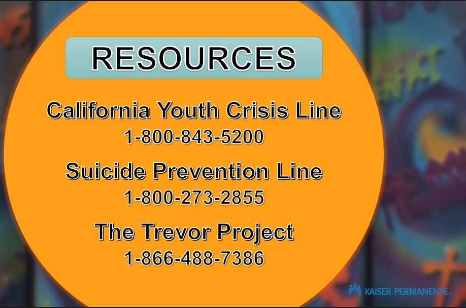Hotlines for Suicide Prevention, Youth Crisis, and Trevor Project